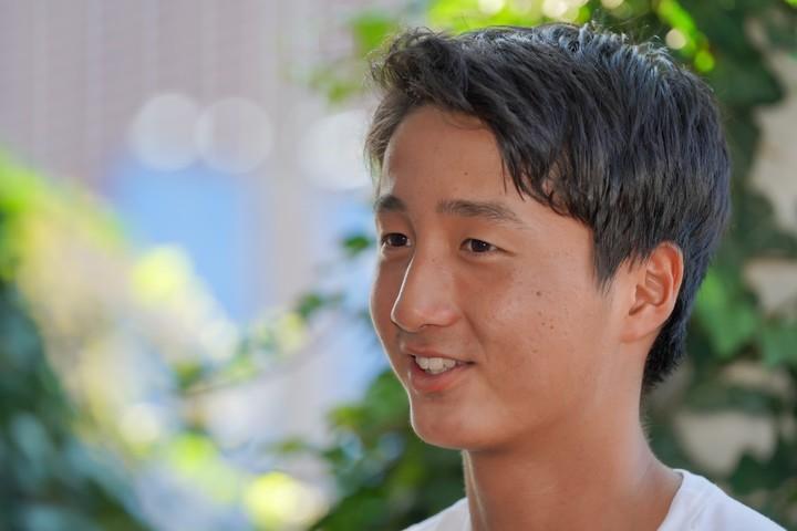 16歳ながら、グランドスラムジュニア本戦2大会目で優勝した望月慎太郎。写真:山崎賢人(スマッシュ写真部)