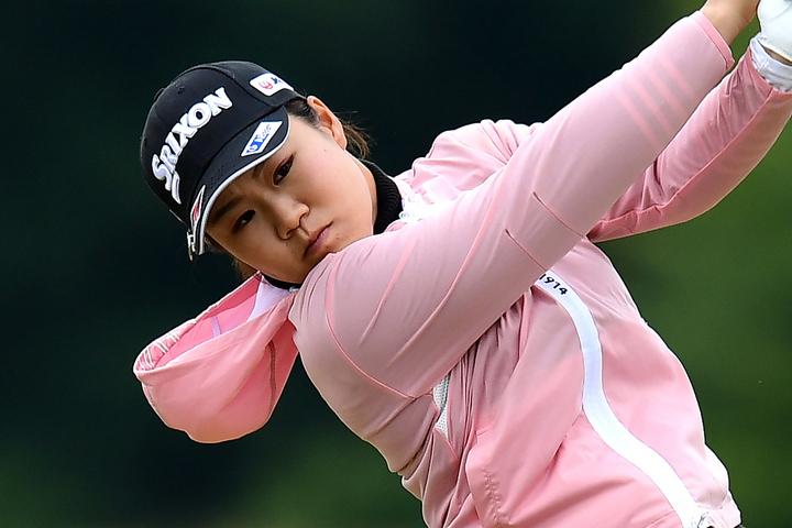暫定12位タイでホールアウトした畑岡。苦手のリンクスで手ごたえをつかみ、次週のAIG女子オープンに進む。(C)Getty Images