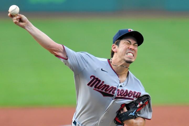 粘りのピッチングで、今季4勝目をマークした前田。(C)Getty Images