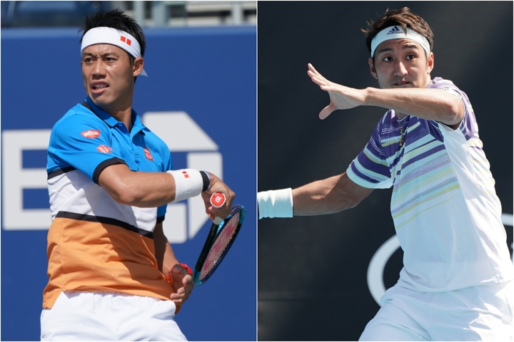 日本人トップの34位に位置する錦織圭(左)と、86位にランクアップした内山靖崇(右)。写真:山崎賢人(THE DIGEST写真部)