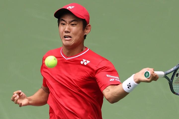 全米オープンで好プレーを披露した西岡良仁。(C)Getty Images