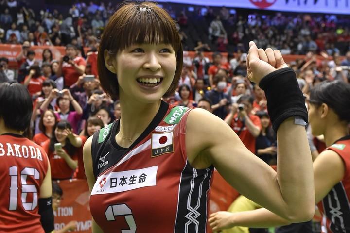 """4大会連続五輪に出場した木村沙織さんが、ヒョウ柄の""""カチューシャ姿""""を披露した。(C)Getty Images"""