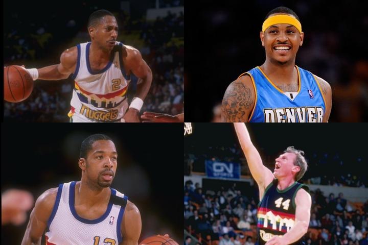 イングリッシュ(左上)、リーバー(左下)、イッセル(右下)ら80年代以前の選手が揃うなか、現役ではカーメロ(右上)が名を連ねた。(C)Getty Images
