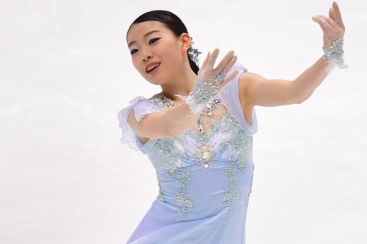 リショー氏の振付による新プログラムに、紀平本人も手応えを感じているようだ。(C)Getty Images