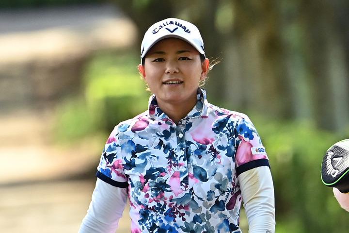 横峯が第1子妊娠を報告。ママになってもプロゴルファーとしてツアーに参戦することを明かした。(C)Getty Images