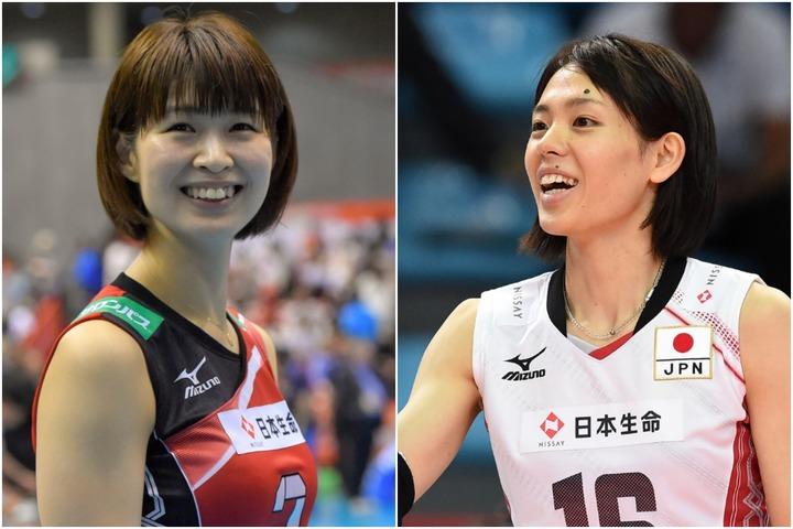 バレーボール日本代表で活躍した、木村沙織さん(左)と迫田さおりさん(右)。(C)Getty Images