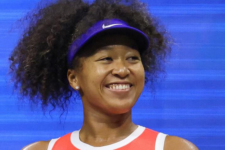 2時間越えの準決勝を制して笑顔を見せる大坂なおみ。(C)Getty Images