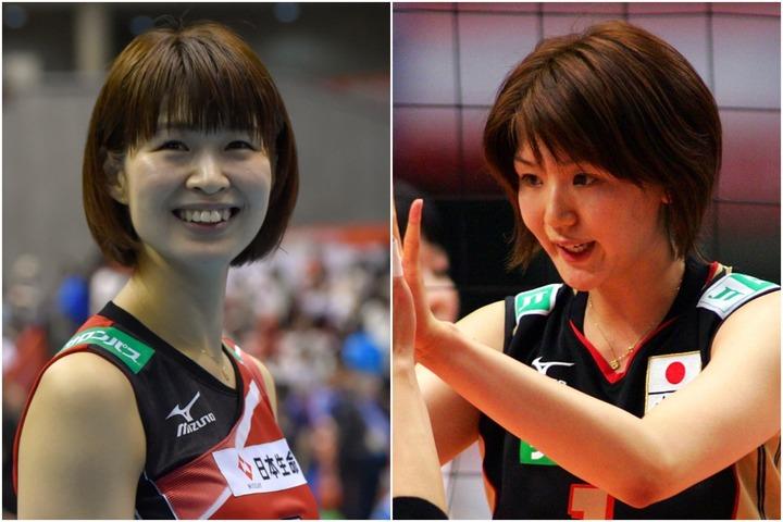 バレーボール日本代表で活躍した、木村沙織さん(左)と栗原恵さん(右)。(C)Getty Images