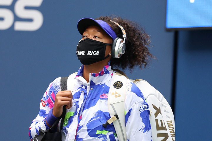プレーのみならず、優勝後のインタビューでも称賛を浴びた大坂。(C)Getty Images