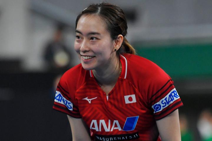 卓球のTリーグ「2020 JAPAN オールスタードリームマッチ」に出場した石川が、厳選ショット5点を公開した。(C)Getty Images