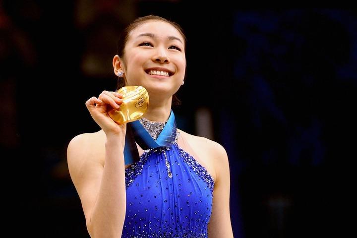 """いまだ韓国で絶大な人気を誇る""""国民の妹""""キム・ヨナさん。(C)Getty Images"""