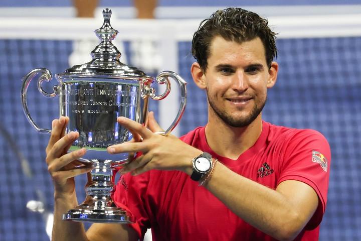 全米オープンでついにグランドスラムタイトルを獲得したティーム。(C)Getty Images