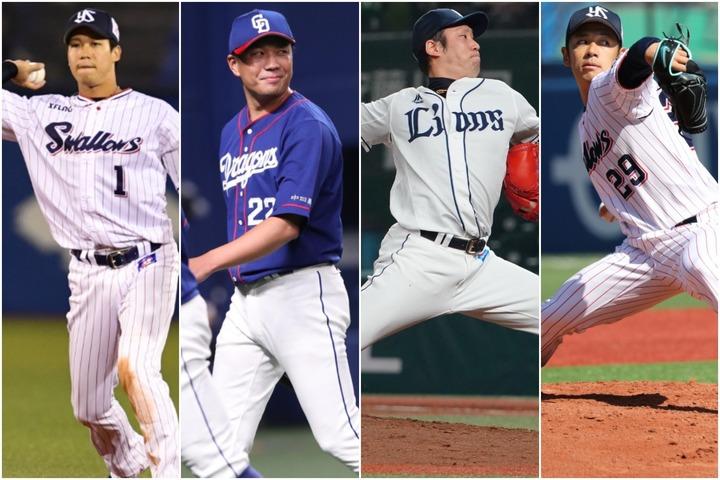 左から山田、大野、増田、小川。今オフは他にも複数の有力選手がFA市場を賑わす可能性がある。写真:滝川敏之、徳原隆元、田中研治、産経新聞社