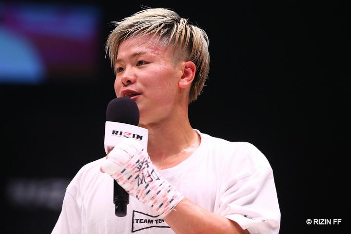 3-0の判定勝ちを収めた那須川。ダウンこそ奪えなかったが、これで日本に敵なしの36連勝となった。(C)RIZIN FF