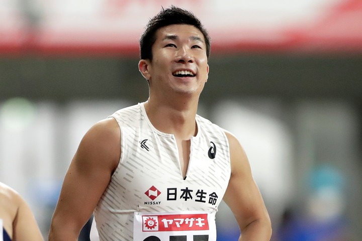 10秒27というタイムで6年ぶりに日本一の称号を手にした、桐生祥秀。(C)Getty Images