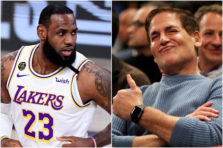 マブズのオーナー、キューバン氏(右)がかつて対峙したレブロンについてコメントした。(C)Getty Images