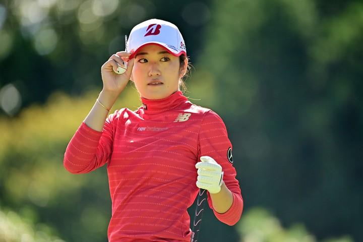 前週の『スタンレーレディスゴルフトーナメント』で優勝を果たした稲見。(C)Getty Images