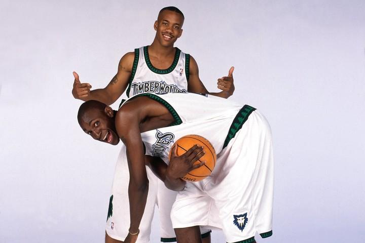 1歳違いのマーブリー(上)とKG(下)は高校時代からの仲。ともにNBA入りを果たし、新人時代を同じチームで過ごした。(C)Getty Images