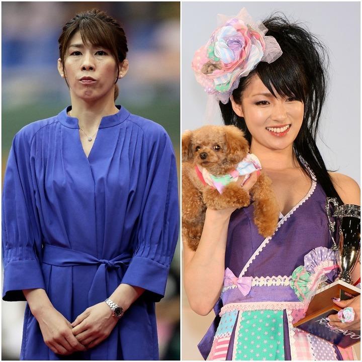 美ボディーを披露した吉田さん(左)と深田さん(右)。五輪金メダリストのドラマ登場はあるのか。(C)Getty Images