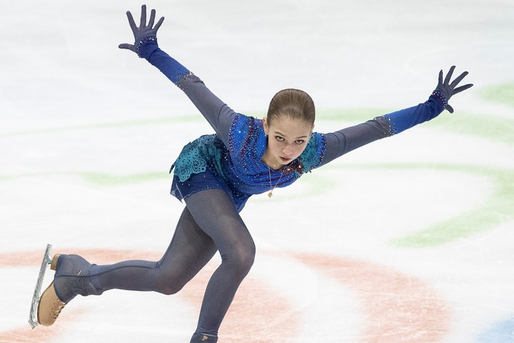 """トゥルソワが披露した""""4回転トゥーループ""""が話題を呼んでいる。(C)Getty Images"""