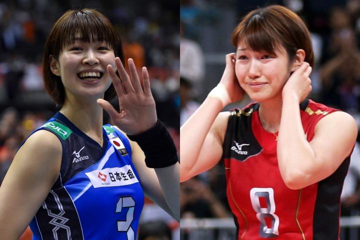 現役時代、ともにバレーボール日本代表として活躍した木村さん(左)と狩野さん(右)。(C)Getty Images
