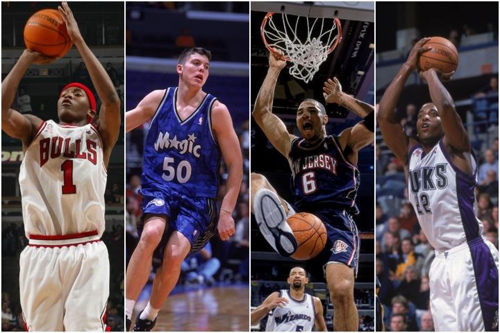 2000年のドラフトでは1位指名のマーティン(右から2番目)や、5位指名のマイク・ミラー(左から2番目)などがいる。(C)Getty Images