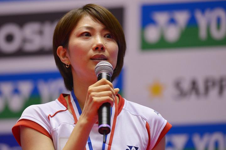 潮田玲子が、始球式でノーバウンドとなる投球を披露した。(C)Getty Images