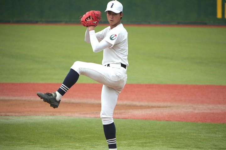 フォームの良さが際立つ常田。公立校の飯山高から初のプロ野球選手となるか。写真:西尾典文
