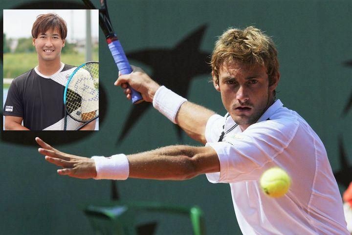 イケメンの元世界1位のフェレーロ。綿貫は憧れて同じラケットにしていた時期もあるという。(C)Getty Images、スマッシュ編集部