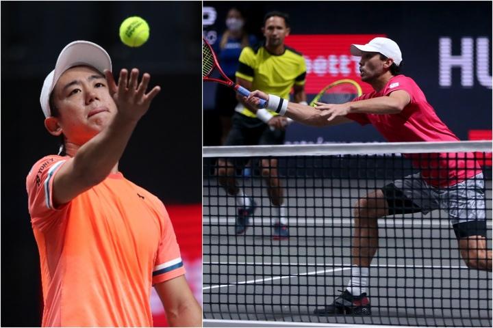 ランキングを上げた西岡良仁(左)とマクラクラン勉(右)。(C)Getty Images