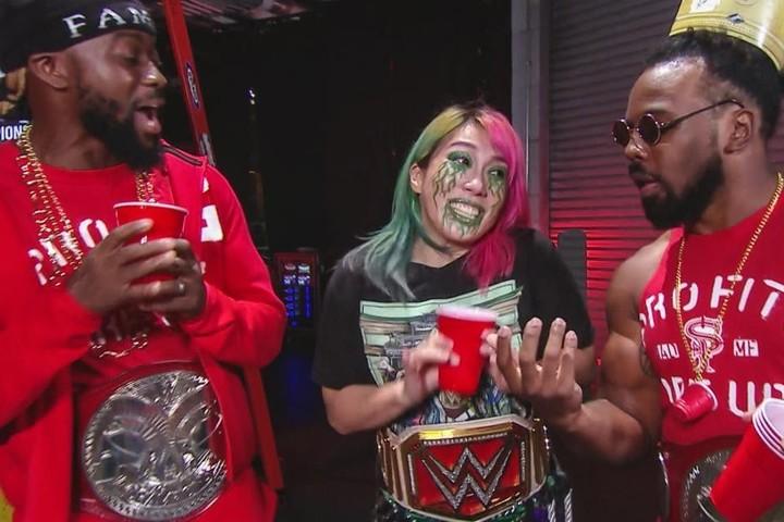 PPV『サバイバー・シリーズ』にてバンクスとの対戦が決まったアスカ。(C)2020 WWE,Inc. All Rights Reserved.