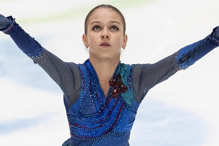 """トゥルソワが披露した""""タノ4ルッツ""""が話題を呼んでいる。(C)Getty Images"""