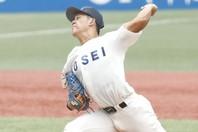 ロッテは早川を外した後、同じ大学生左腕の鈴木を外れ1位で指名した。写真:山手琢也