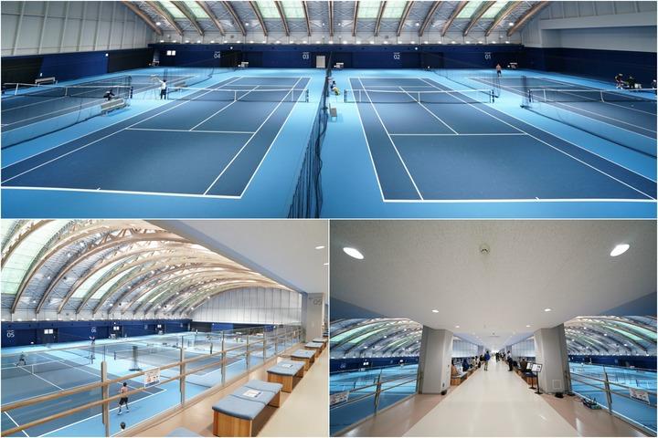 今年の全日本テニス選手権が開催された有明テニスの森インドアコートは、11月8日から個人利用が可能になる。写真:金子拓弥(THE DIGEST写真部)