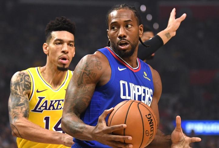 グリーン(左)は「正しいプレーや正しい行ないをしなかったら、バスケットの神様に振り向いてもらえないと思う」と、クリッパーズの姿勢について非難した。(C)Getty Images