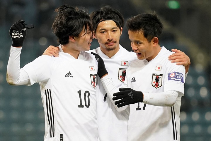 南野(左)のゴールで勝利した日本代表。久保(右)のプレーも光った。(C)Getty Images