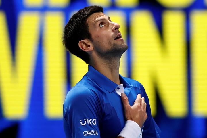 2年ぶりとなる準決勝進出を懸けた重要な試合で、持ち味を出し切って勝利を手にしたジョコビッチ。(C)Getty Images