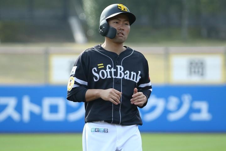 ソフトバンク中村が、日本シリーズを前に意気込みを語った。写真:滝川敏之