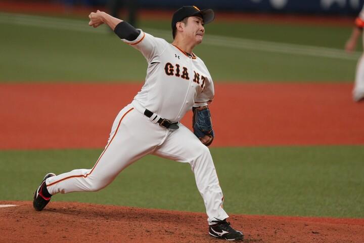 昨年の雪辱を果たしたかった菅野だが、6回4失点で負け投手に。写真:塚本凛平(THE DIGEST写真部)