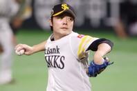 マン・オブ・ザ・マッチは柳田だが、2番手として好投し、勝ち投手になった松本(写真)の投球も見事だった。写真:田口有史