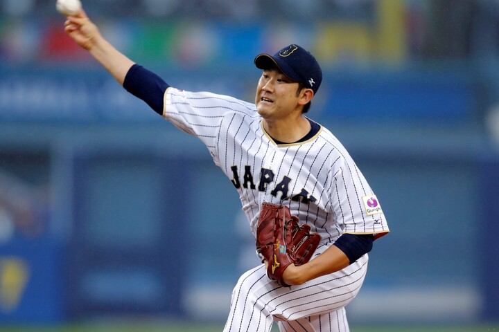 """""""本場""""で魅せた輝きは今も色あせず。菅野は果たしてメジャーに行くのか、注目が集まる。写真:田口有史"""