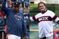 現アストロズ監督のベイカー(左)と新たにホワイトソックスの監督に就任したラルーサ(右)。実は選手と監督として半年だけコンビを組んだことが…?(C)Getty Images
