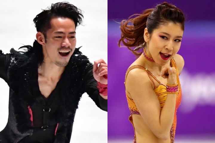 アイスダンスデビュー戦を迎えた村元&高橋組。初の演技を64.15点で滑り終えた。(C)Getty Images
