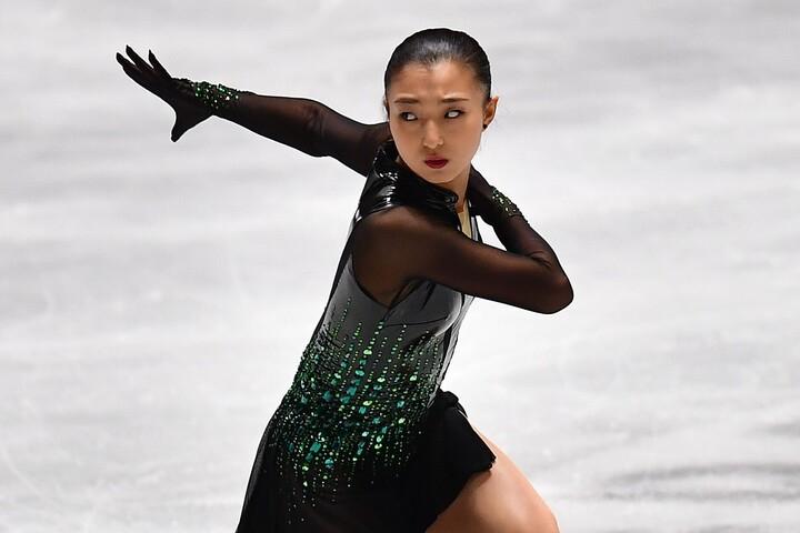 圧巻の演技でGP初優勝を果たした坂本花織。(C)Getty Images