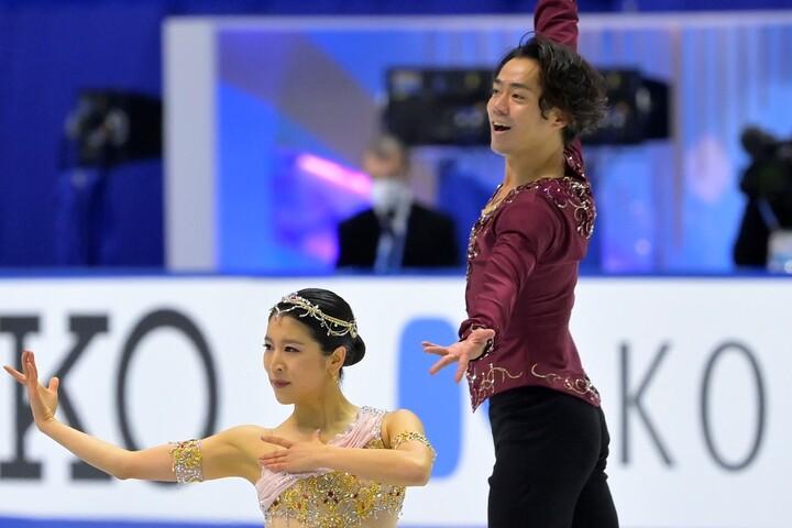 日本でのデビュー戦を終えた村元・高橋組。 (C)Getty Images