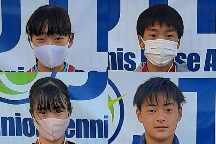 上段左から早坂来麗愛、古川蒼空、下段左から西村佳世、逸崎獅王。写真提供:JTRA