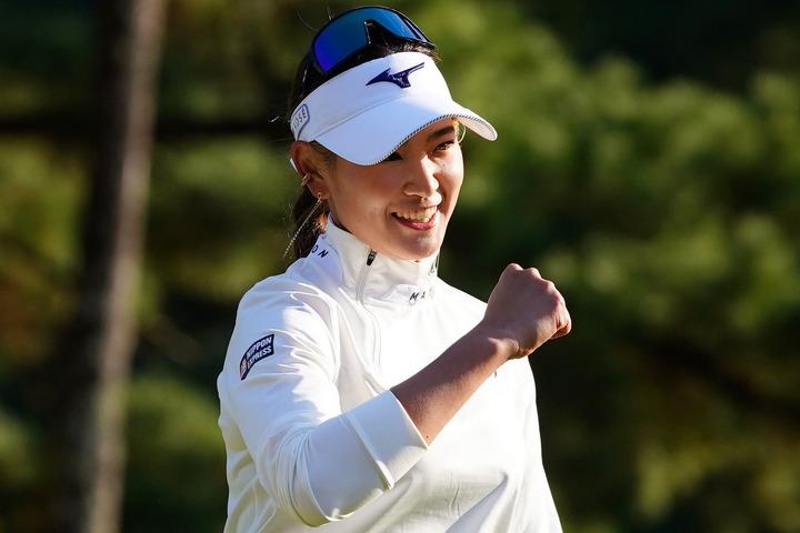 先月の『日本女子オープン』に続いてメジャー2連勝をマークした原。初日から首位を守り切る完全優勝だった。(C)Getty Images
