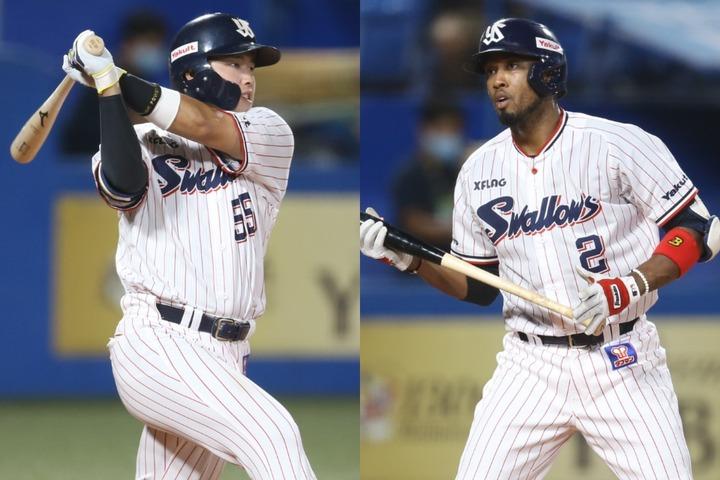 4番の村上(左)が大打者に成長したものの、新外国人エスコバー(右)が不発で得点力はダウン。投手陣も苦しいやり繰りを強いられた。写真:滝川敏之