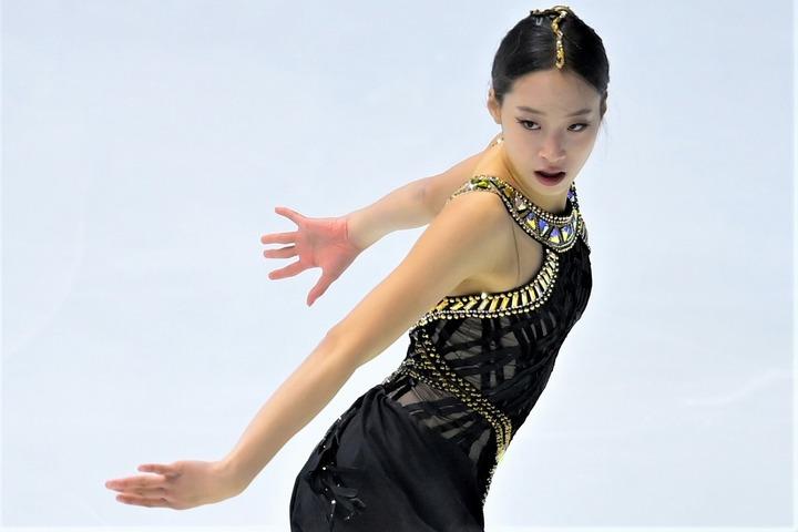 進化を続けるユ・ヨン。ますます大先輩キム・ヨナに似てきた!? (C)Getty Images