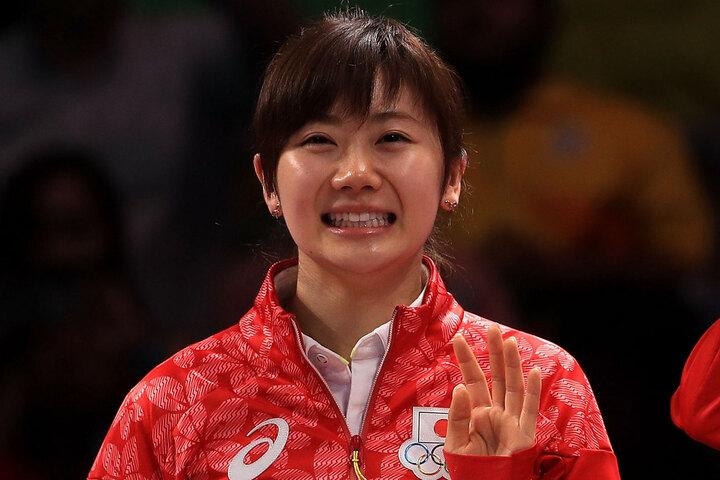 江さんが公開した福原さんとの和やかな家族ショットに反響が集まっている。(C)Getty Images